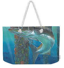 Cobia Strike In0024 Weekender Tote Bag by Carey Chen