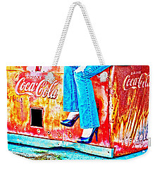 Coca-cola And Stiletto Heels Weekender Tote Bag