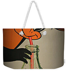 Coca Cola Orioles Sign Weekender Tote Bag by Stephen Stookey