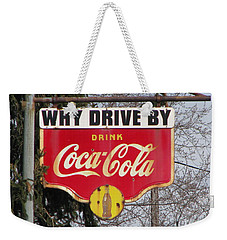 Coca-cola Sign Weekender Tote Bag