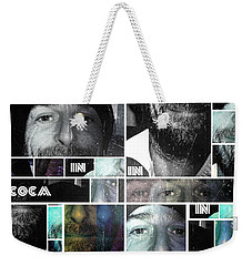 Weekender Tote Bag featuring the photograph Coca In Part 4 Collage by Sir Josef - Social Critic - ART