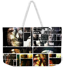 Weekender Tote Bag featuring the photograph Coca In Part 5 Collage  by Sir Josef - Social Critic - ART