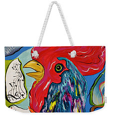 Cock-a-doodle-do Weekender Tote Bag by Janice Rae Pariza