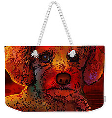 Cockapoo Dog Weekender Tote Bag by Marlene Watson