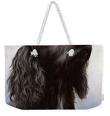 Cocker Spaniel Painting Weekender Tote Bag by Rachel Stribbling