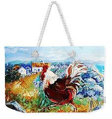 Cockerel By The Beach  Weekender Tote Bag by Trudi Doyle