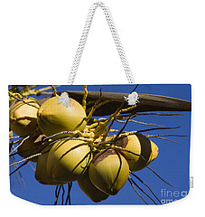 Weekender Tote Bag featuring the photograph Coconut 1 by Teresa Zieba