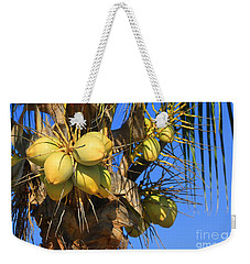 Weekender Tote Bag featuring the photograph Coconut 2 by Teresa Zieba