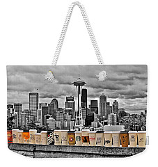 Coffee Capital Weekender Tote Bag by Benjamin Yeager