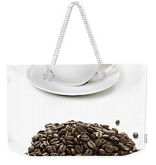 Weekender Tote Bag featuring the photograph Coffee Cups And Coffee Beans by Lee Avison