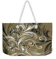 Coffee Flowers 4 Olive Weekender Tote Bag by Angelina Vick