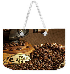 Coffee Grinder With Beans Weekender Tote Bag