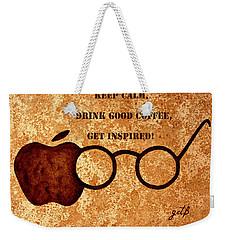 Coffee Lovers Quote 2 Weekender Tote Bag