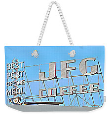 Coffee Sign Weekender Tote Bag
