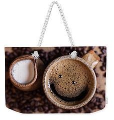 Coffee With A Smile Weekender Tote Bag
