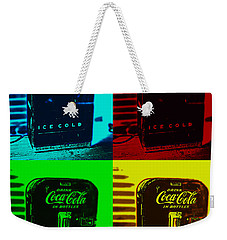 Coke Poster Weekender Tote Bag by Kevin Fortier