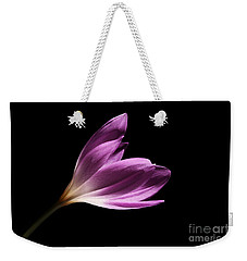 Weekender Tote Bag featuring the photograph Colchicum  by Judy Whitton