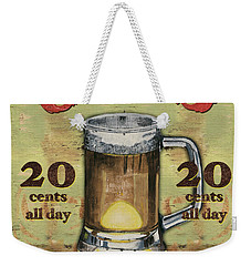 Cold Beer Weekender Tote Bag by Debbie DeWitt