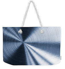 Cold Blue Metallic Texture Weekender Tote Bag