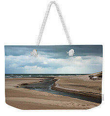 Cold Morning At The Beach Weekender Tote Bag