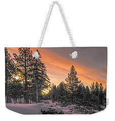Cold Morning Weekender Tote Bag