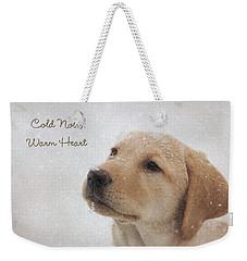 Cold Nose Warm Heart Weekender Tote Bag