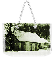 Countryside Winter Scene Weekender Tote Bag by Nina Ficur Feenan