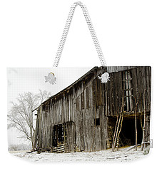 Cold Winter At The Barn  Weekender Tote Bag by Wilma  Birdwell