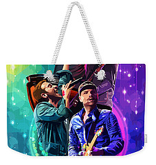 Coldplay Mylo Xyloto Weekender Tote Bag by FHT Designs
