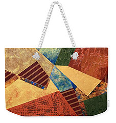 Weekender Tote Bag featuring the painting Collaboration by Linda Bailey