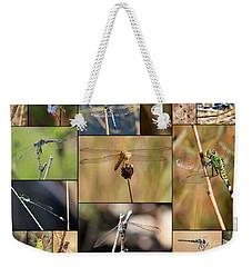 Collage Marsh Life Weekender Tote Bag by Carol Groenen