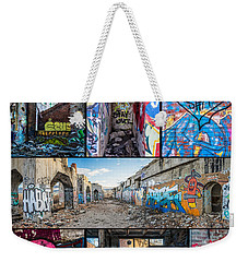 Weekender Tote Bag featuring the photograph Collage Of Graffiti by Steven Santamour