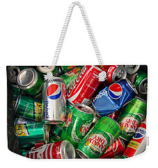 Collection Of Cans 02 Weekender Tote Bag by Andy Lawless