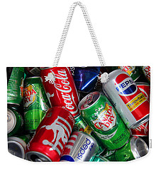 Collection Of Cans 04 Weekender Tote Bag by Andy Lawless