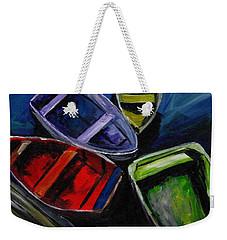 Colliding Skiffs Weekender Tote Bag