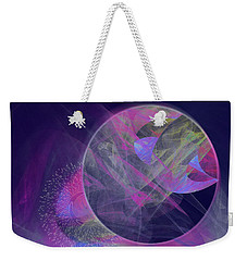 Weekender Tote Bag featuring the digital art Collision by Victoria Harrington