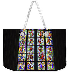Cologne Cathedral Stained Glass Life Of Christ Weekender Tote Bag
