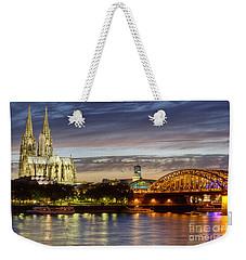 Cologne Cathedral With Rhine Riverside Weekender Tote Bag