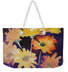 Weekender Tote Bag featuring the painting Color And Whimsy by Marilyn Jacobson