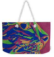 Weekender Tote Bag featuring the painting Color Cat I by Pamela Clements