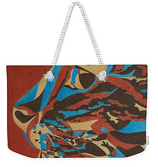 Weekender Tote Bag featuring the painting Color Cat II by Pamela Clements