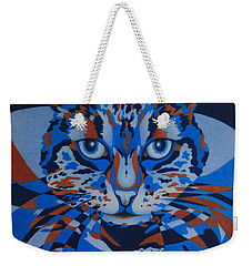 Weekender Tote Bag featuring the painting Color Cat IIi by Pamela Clements