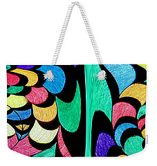 Weekender Tote Bag featuring the digital art Color Dance by Rafael Salazar