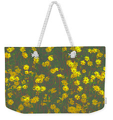 Color Flower Wall Weekender Tote Bag