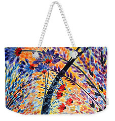 Color Flurry 3 Weekender Tote Bag by Holly Carmichael