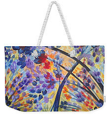 Color Flurry Weekender Tote Bag by Holly Carmichael