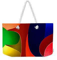Weekender Tote Bag featuring the digital art Color Maze by Rafael Salazar
