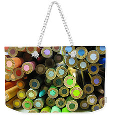 Color Pencils Weekender Tote Bag by Alfred Ng