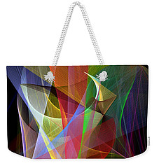 Weekender Tote Bag featuring the digital art Color Symphony by Rafael Salazar