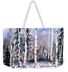 Colorado Aspens 2  Weekender Tote Bag by Barbara Jewell